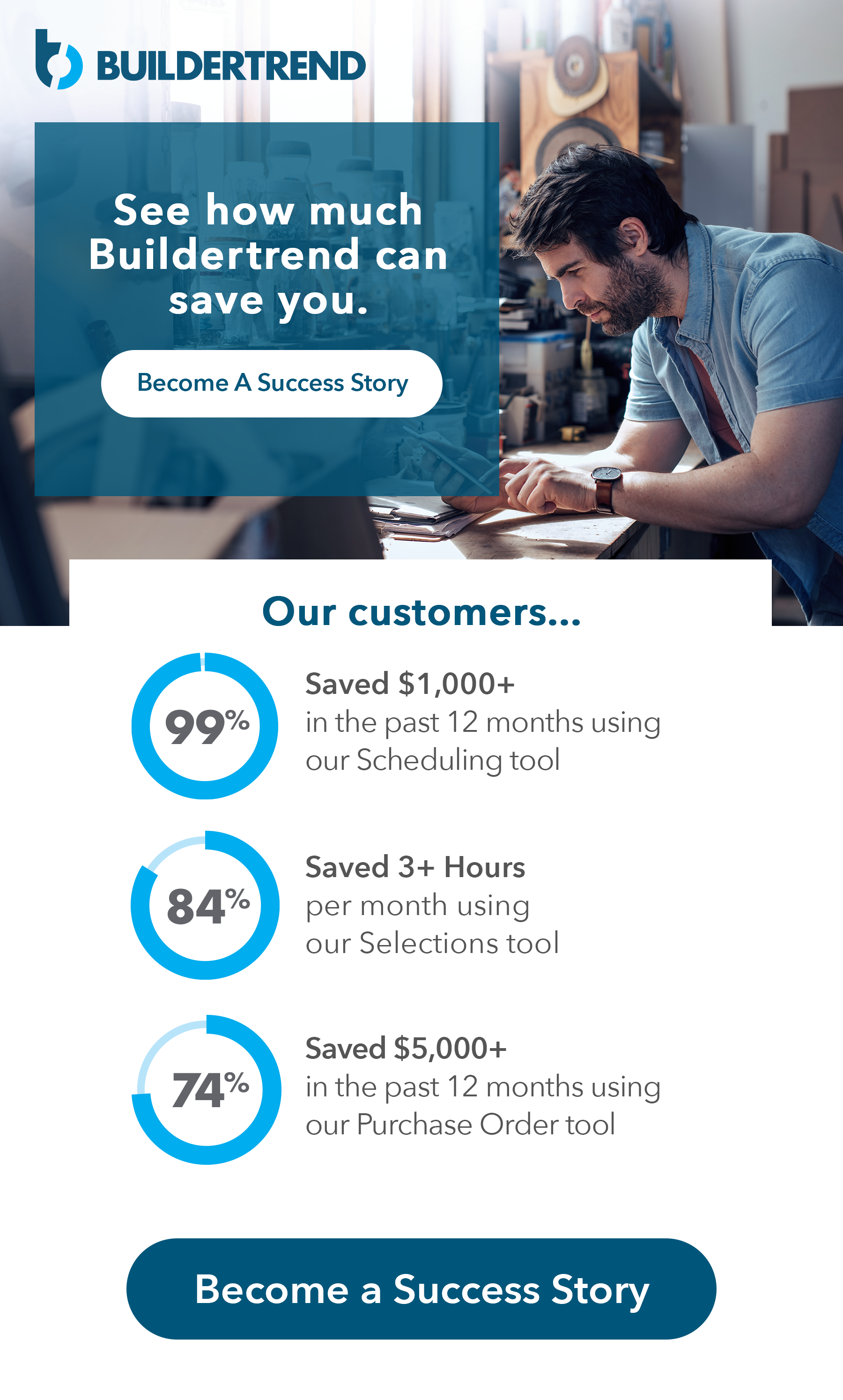 see how valuable buildertrend is for your business - become a success story