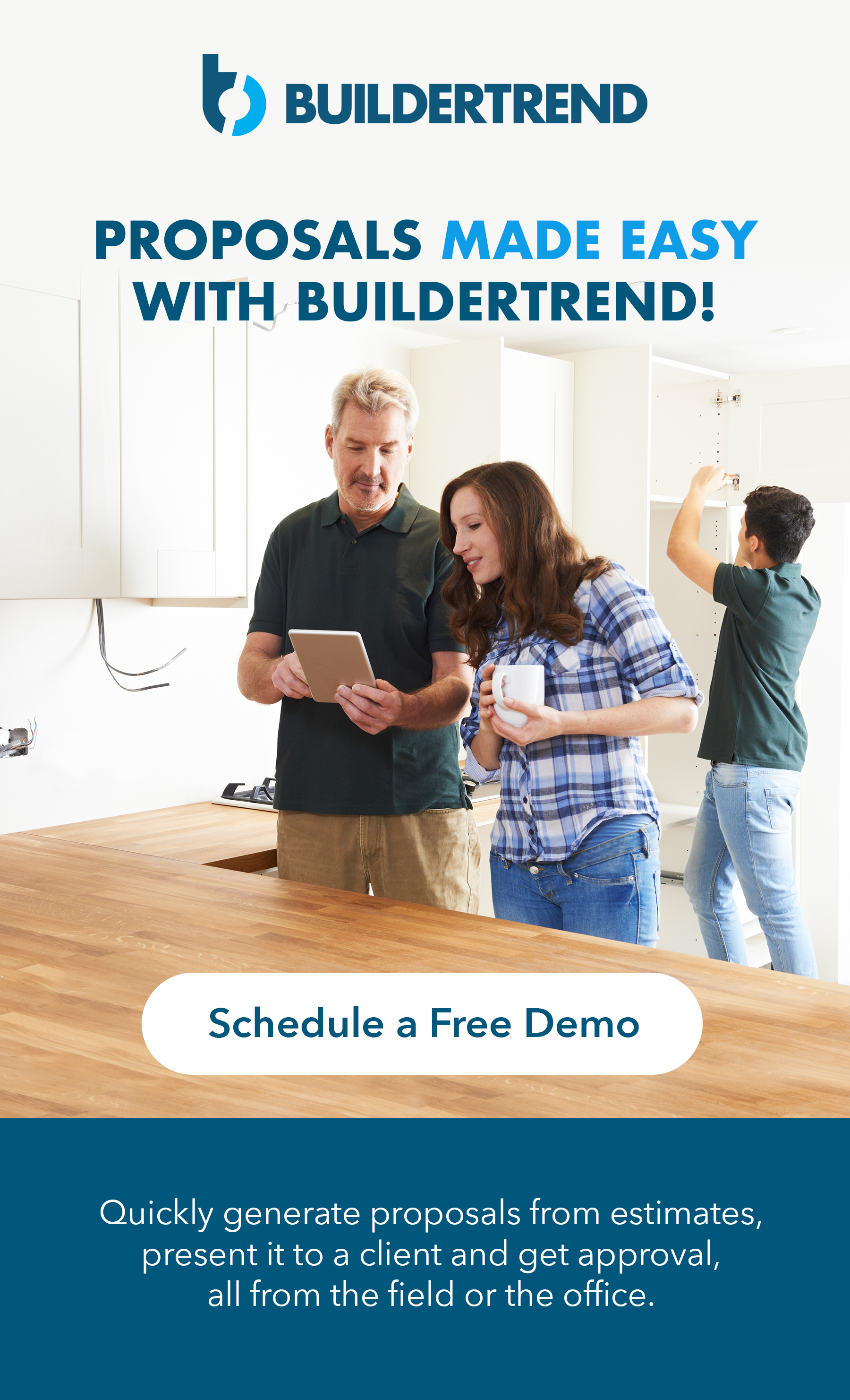 proposals made easy with buildertrend - schedule your demo today