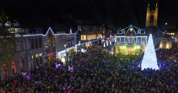 Peterborough Christmas light switch-on image