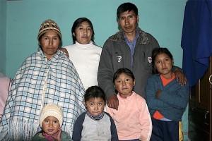 an image of the mamani family, plaintiffs in our case Mamani, et al. v. Sánchez de Lozada and Sánchez Berzaín