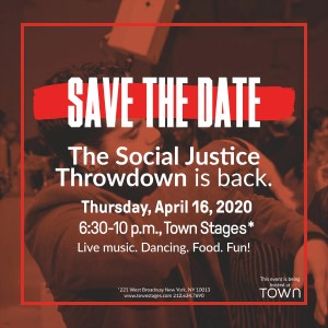 image saying save the date the social justice throwdown is back