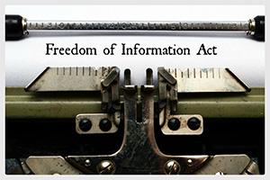 typewriter reading freedom of information act
