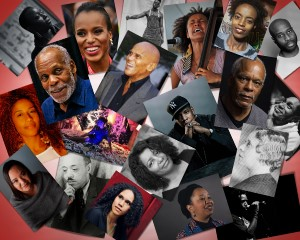 a photo of various historic and contemporary black who have lent their platforms to demand justice in ferguson, haiti, guantanamo, and more