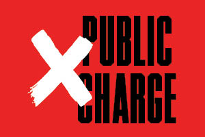 Public charge with a large x covering it