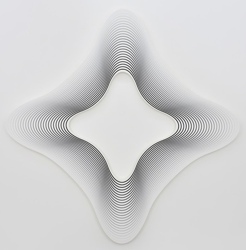 Philippe Decrauzat Delay (square on the angles to black / 24)