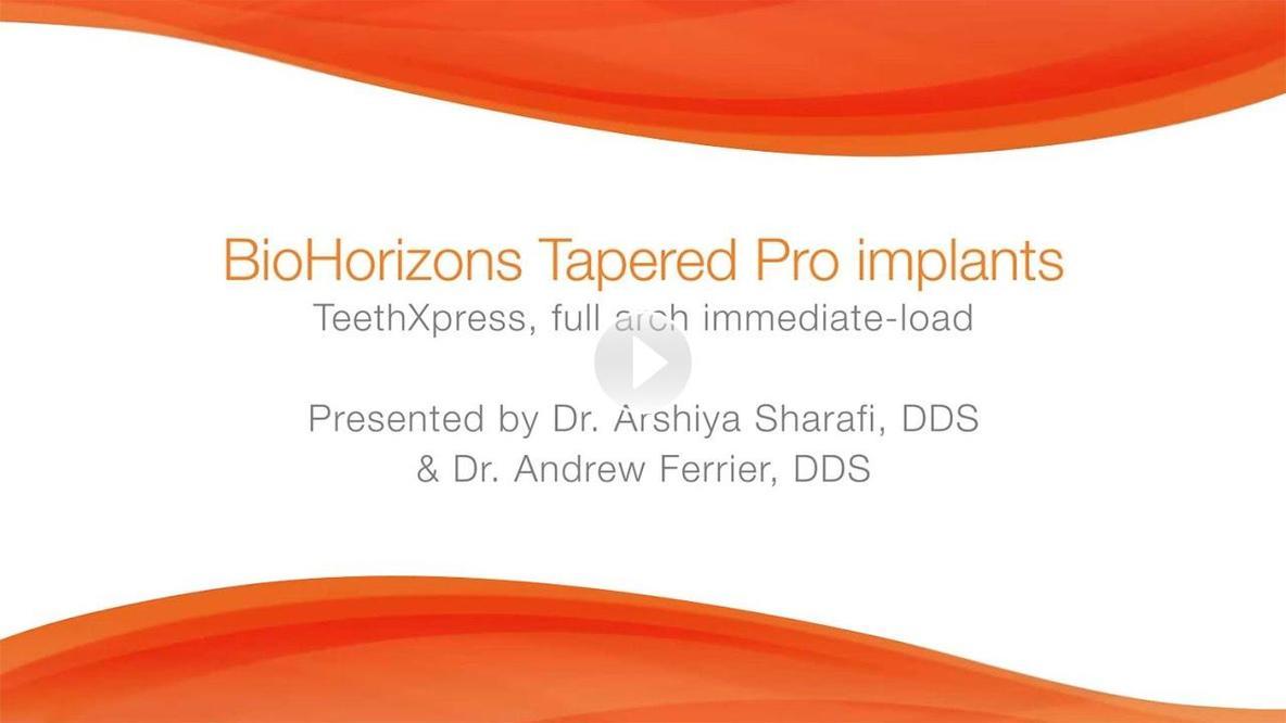 Tapered Pro, dental implants, BioHorizons