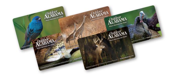 Alabama Hard Card License Graphic