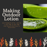Making Outdoor Lotion