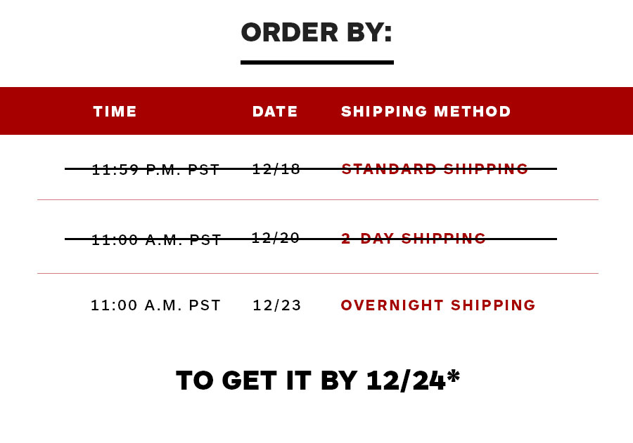 Order Early to get it by 12/24*
