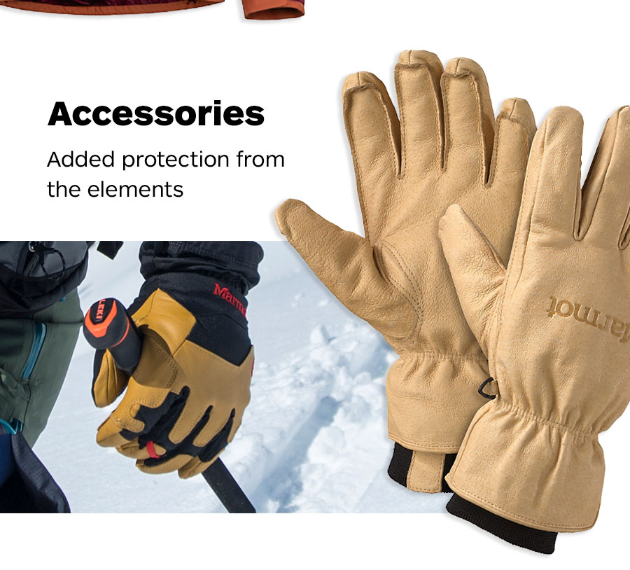 Accessories. Added protection from the elements.