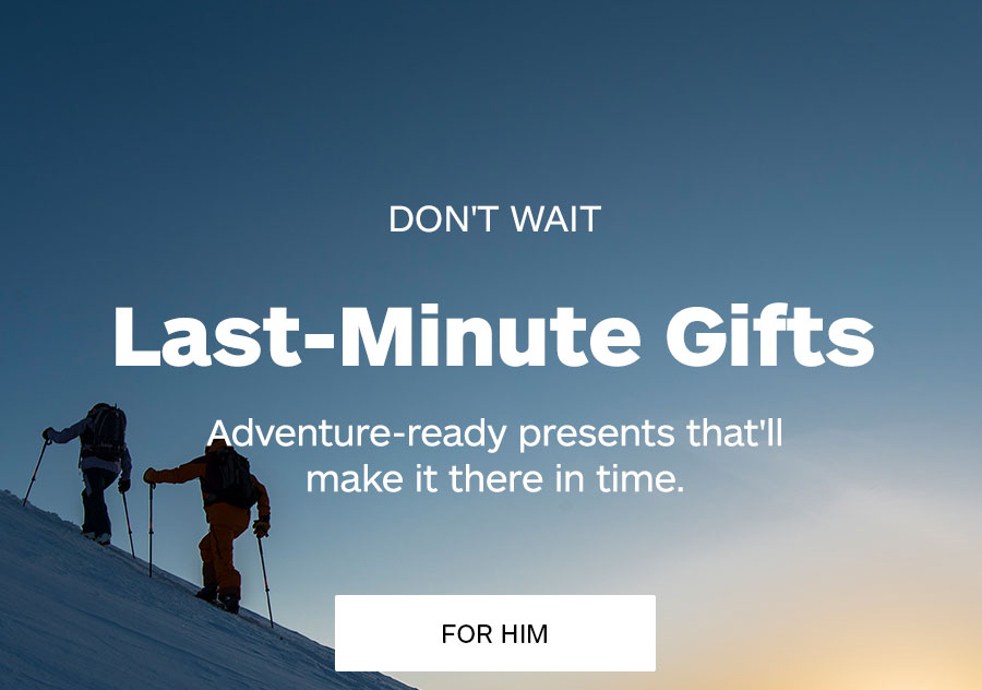 Don't Wait. Last-Minute Gifts For Him