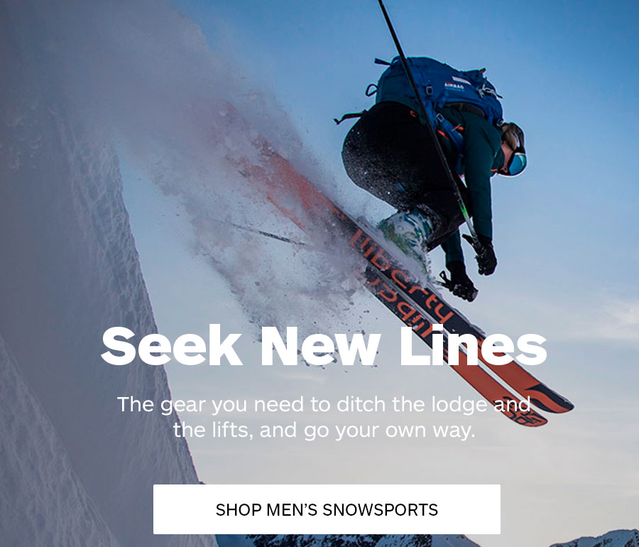 2019 Holiday Gifts. Seek New Lines. Shop Men's Snowsports