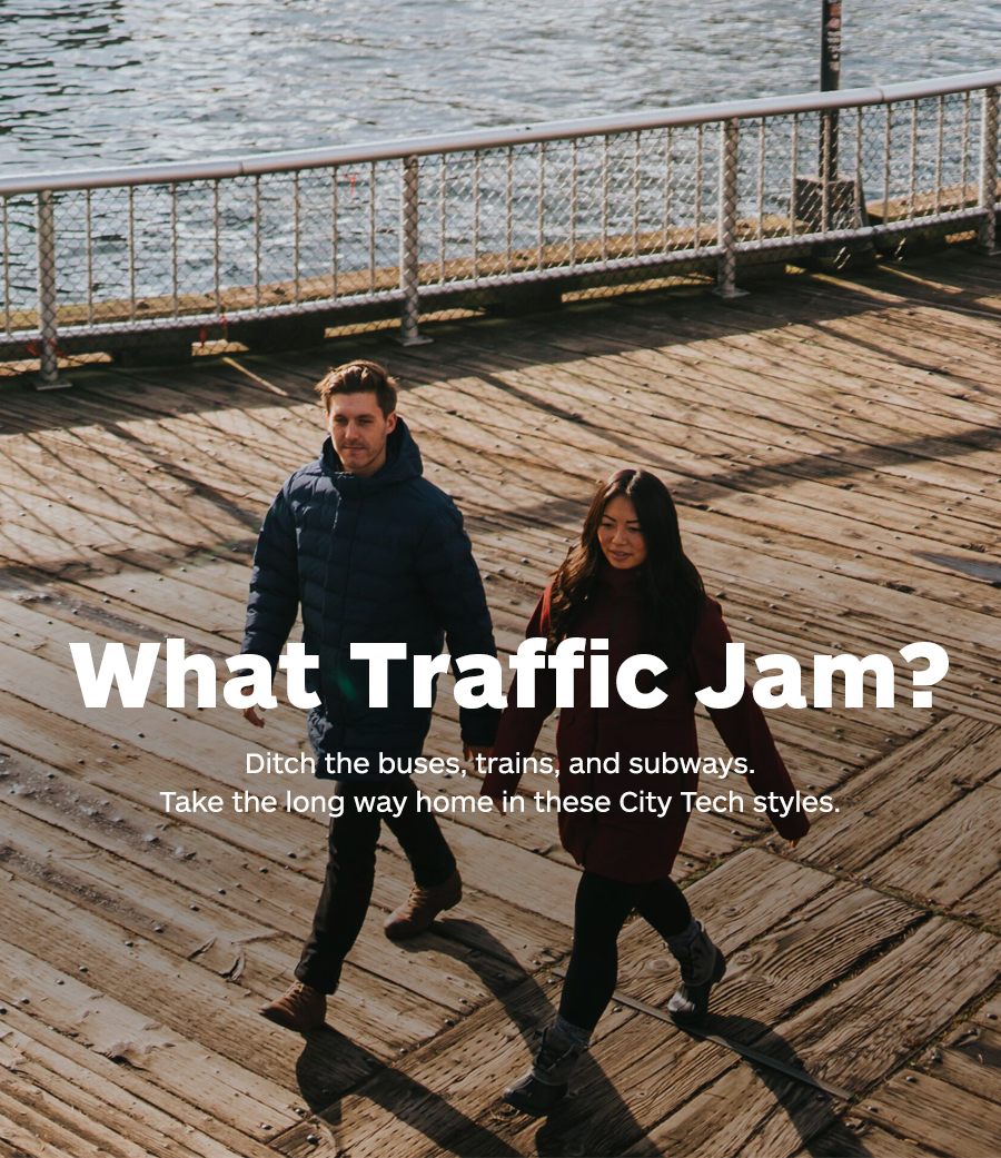 What Traffic Jam? Ditch the buses, trains, and subways. Take the long way home in these City Tech styles.
