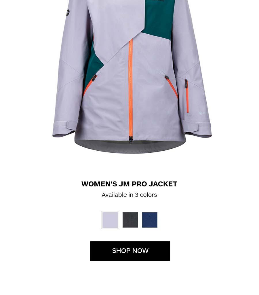 Women's JM Pro Jacket. Available in 3 colors. SHOP NOW