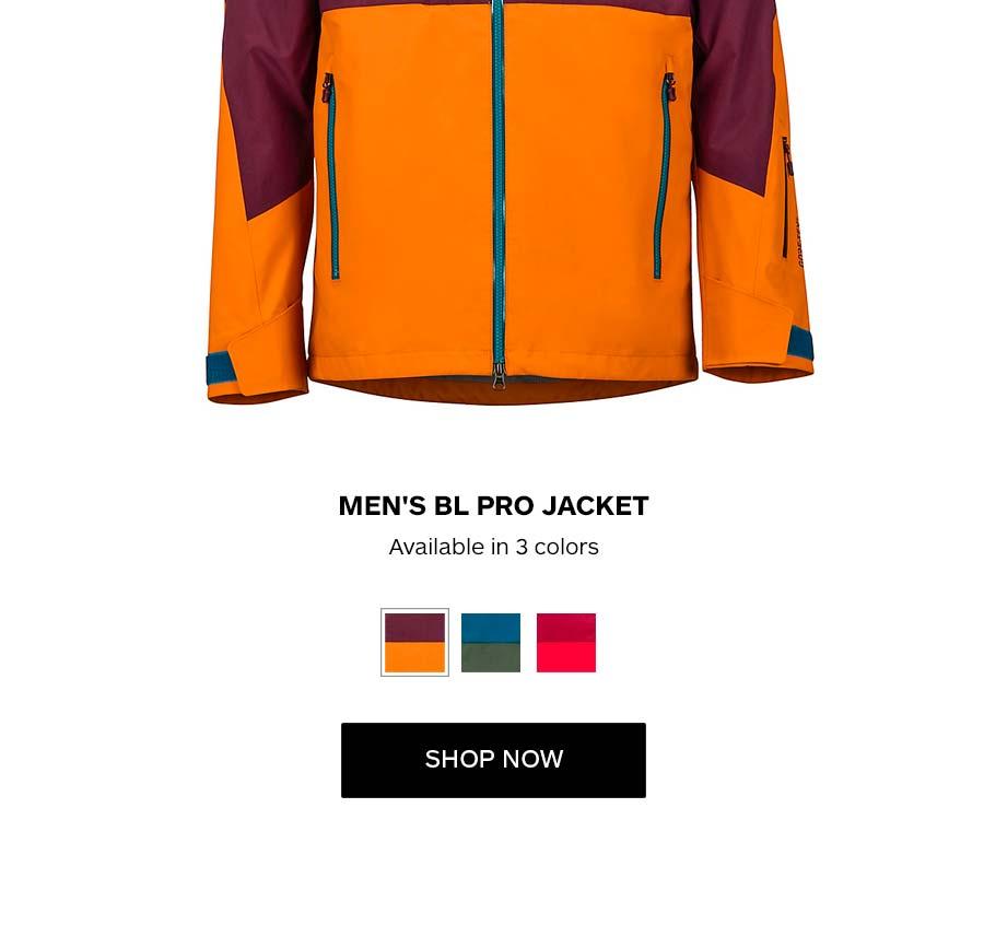 Men's BL Pro Jacket. Available in 3 colors. SHOP NOW
