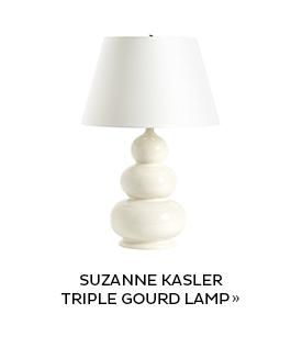 Suzanne Kasler Triple Gourd Lamp