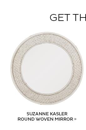 Suzanne Kasler Round Woven Mirror
