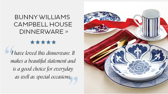 Bunny Williams Campbell House Dinnerware