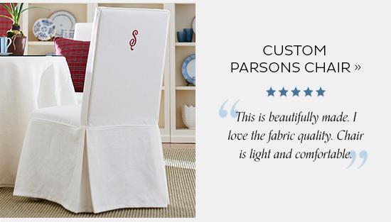 Custom Parsons Chair