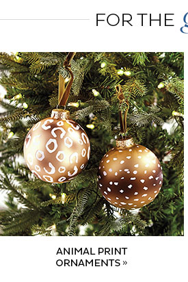 Animal Print Ornaments