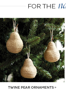 Twine Pear Ornaments