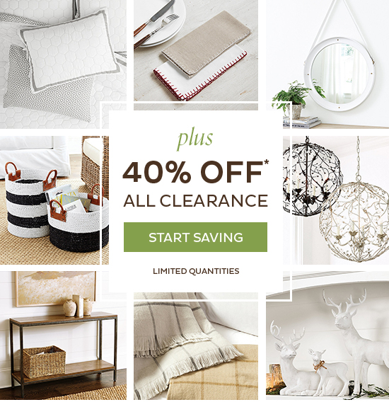 40% Off All Clearance
