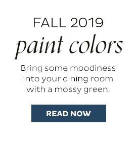 Fall 2019 Paint Colors
