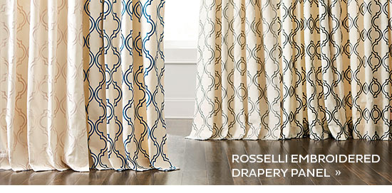 Resselli Embroidered Drapery Panel