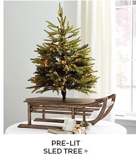 Pre-Lit Sled Tree