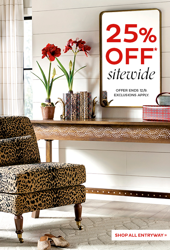 25% Off Sitewide   Shop All Entryway