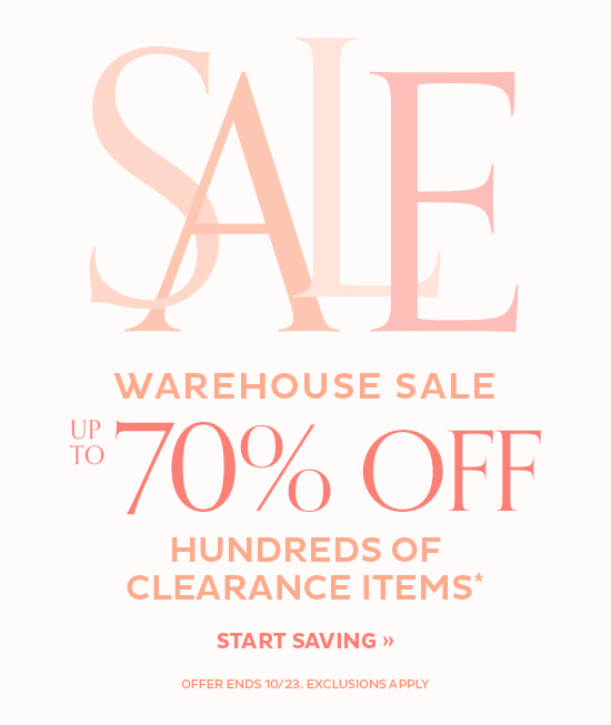 Up To 70% Off Clearance Items   Start Saving