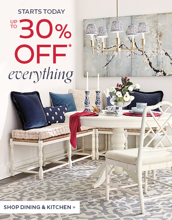Up To 30% Off Everything   Shop Dining and Kitchen