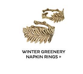 Winter Greenery Napkin Rings