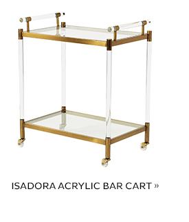 Isadora Acrylic Bar Cart