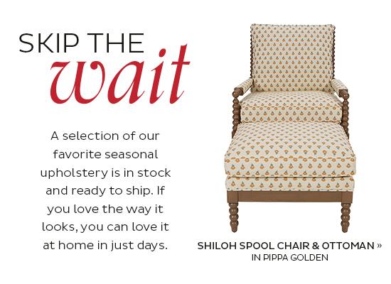 Shiloh Spool Chair and Ottoman
