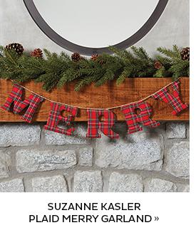 Suzanne Kasler Plaid Merry Garland
