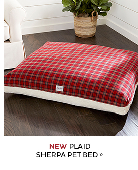 New Plaid Sherpa Pet Bed