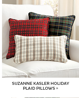 Suzanne Kasler Holiday Plaid Pillows