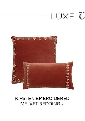 Kirsten Embroidered Velvet Bedding