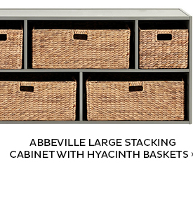 Abbeville Large Stacking Cabinet with Hyacinth Baskets