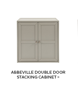 Abbeville Double Door Stacking Cabinet