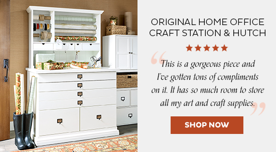 Priginal Home Office Craft Station and Hutch