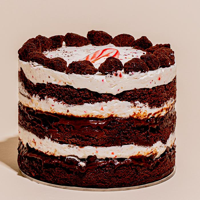 | Peppermint bark cake