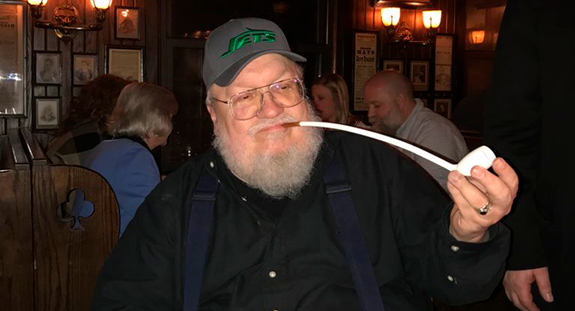 GRRM at Keens Steakhouse