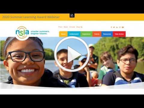 2020 Summer Learning Awards Kick-off Webinar