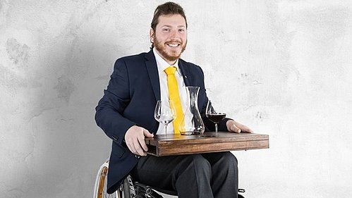 Pushing Ahead as a Wheelchair Sommelier