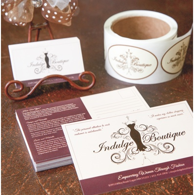 Indulge Boutique Print Marketing