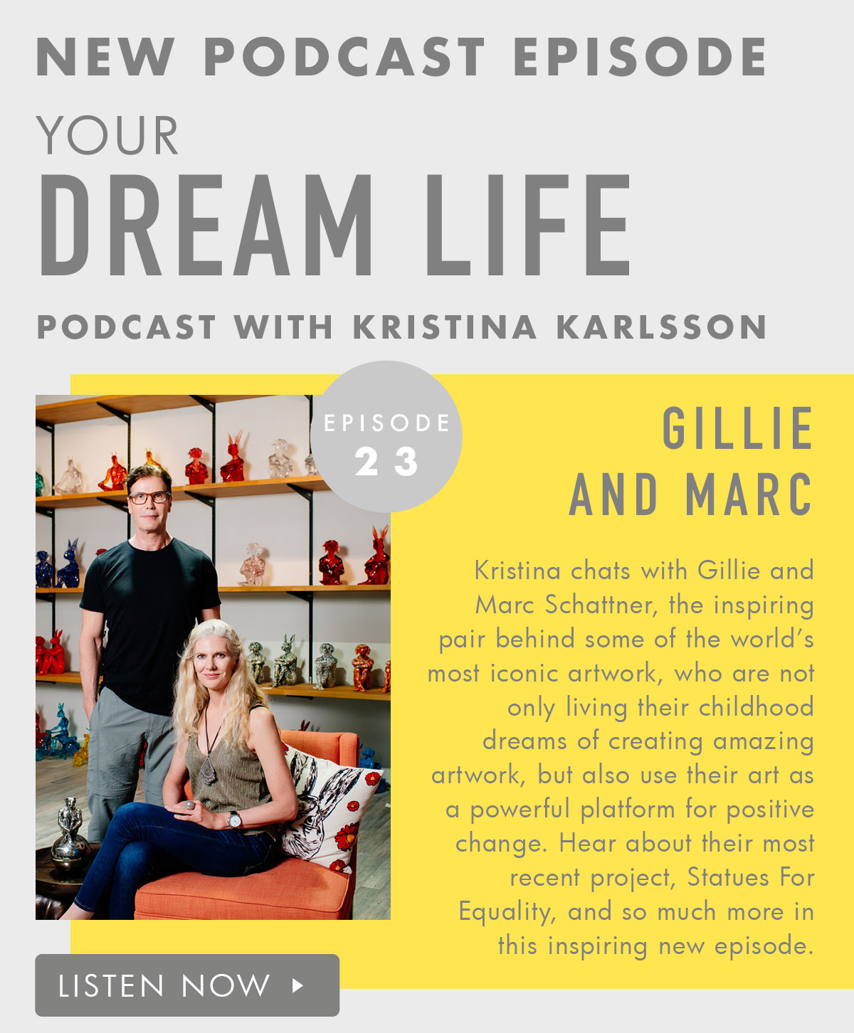New Episode Your Dream Life Podcast. Listen now.