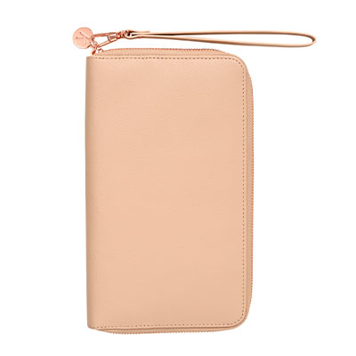 Leather Travel Wallet with Zip. Shop now.